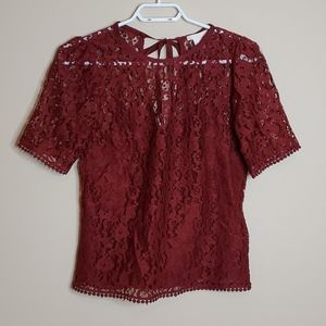 H&M top with tie back size us4